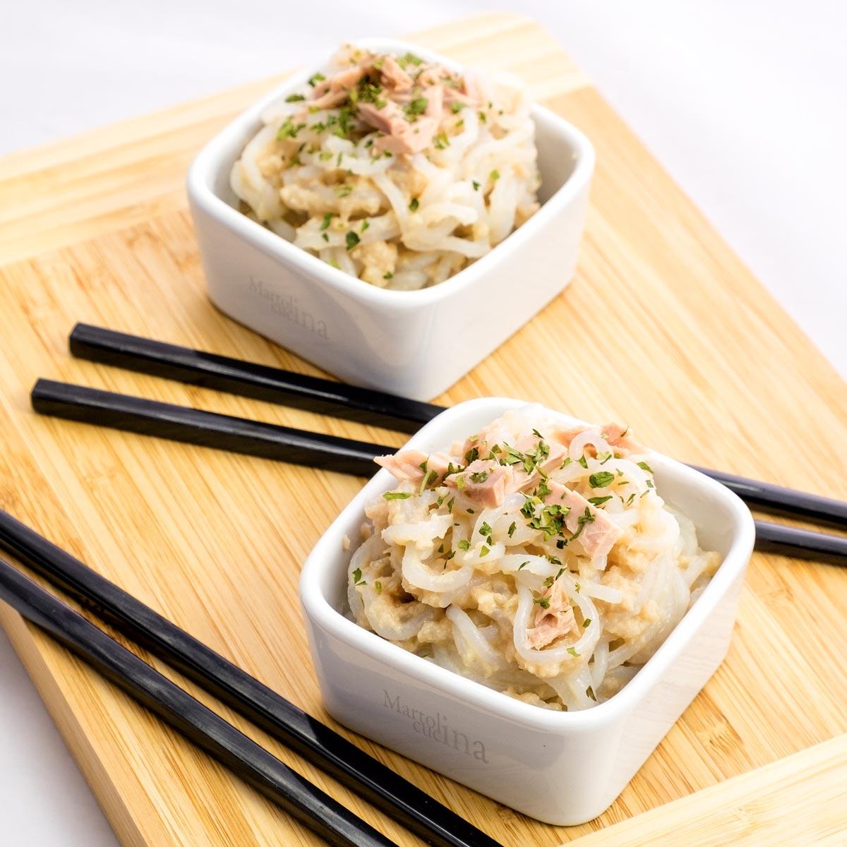 Spaghetti in crema di tonno e cipolla