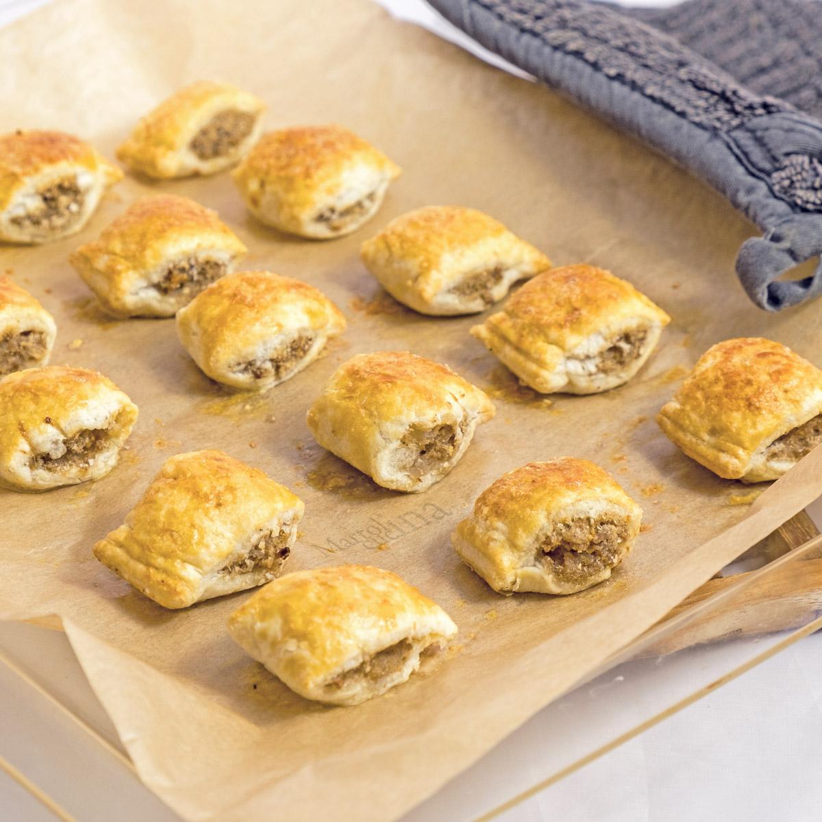 Bocconcini di salsiccia in crosta