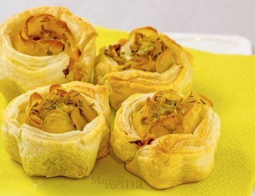 Rose di sfoglia con patate, ricetta facile e golosa