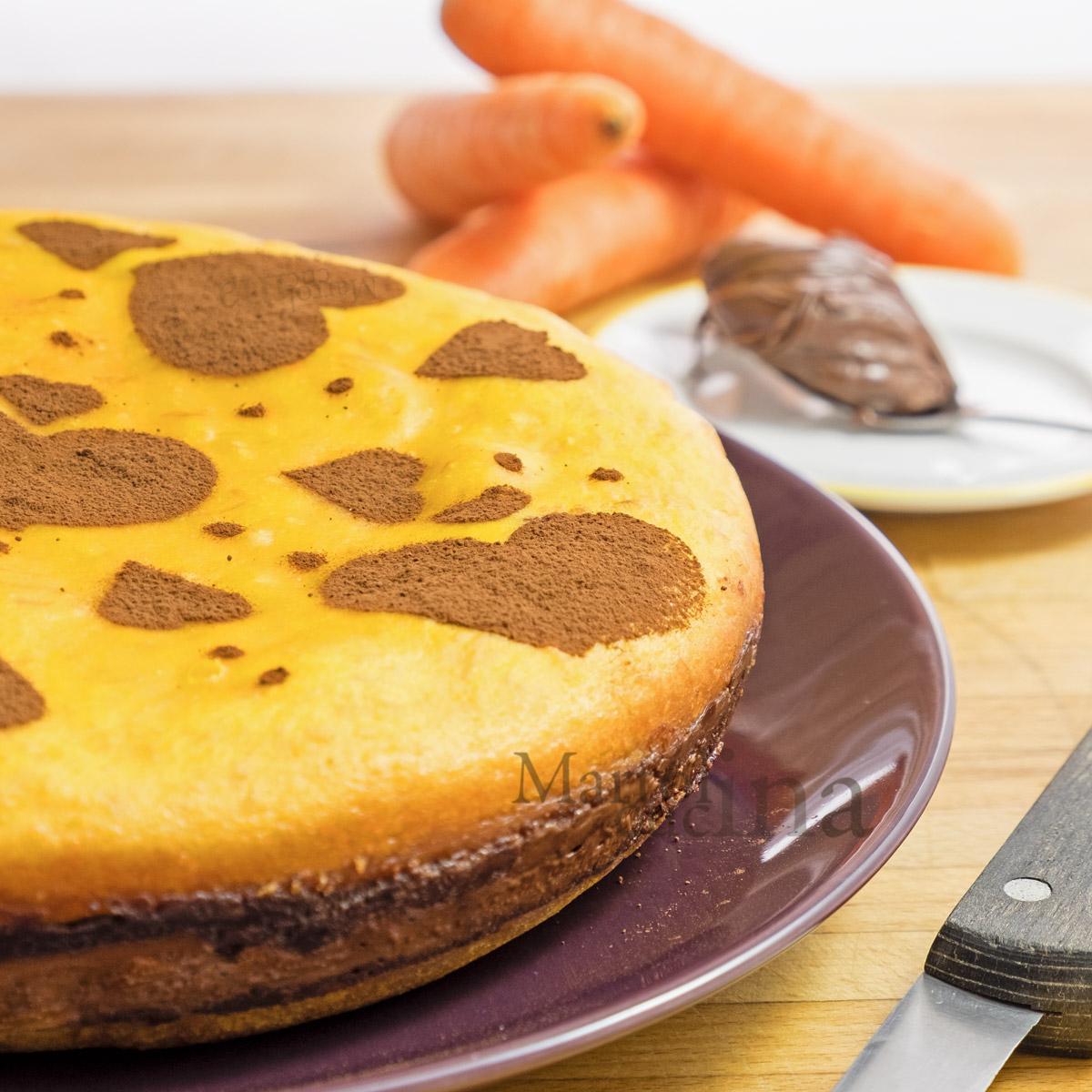 Torta carote e nutella