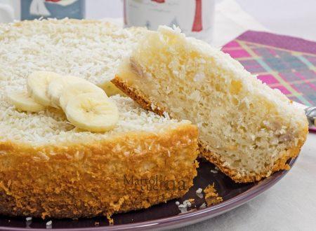 Dolce cocco e banane, torta facile senza burro