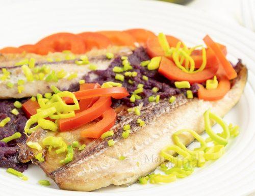 Filetti di aringa con verdure, ricetta facile, secondo di pesce