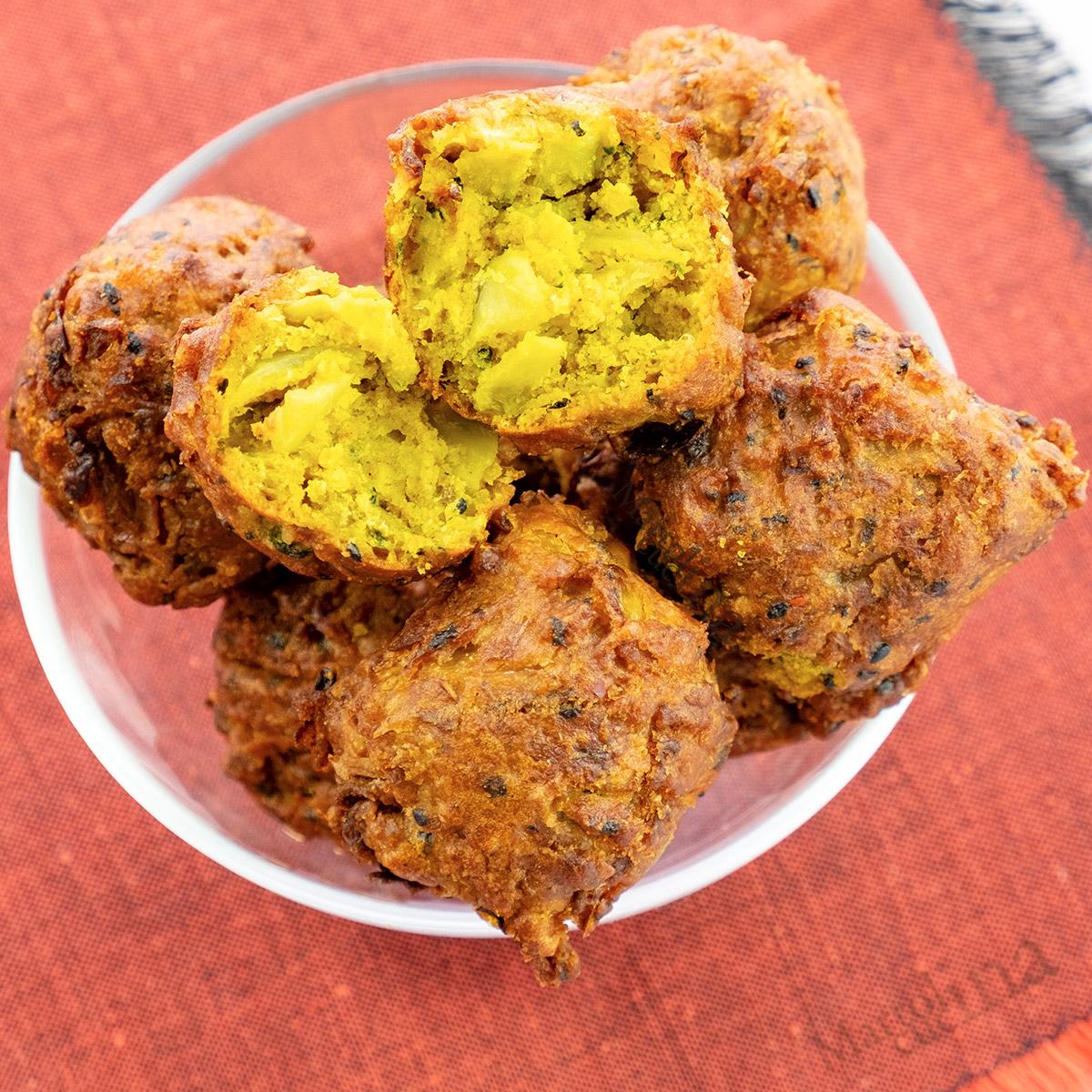 Polpette di verdure e curry