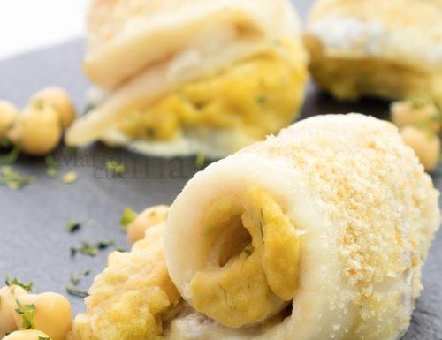Filetti di pesce con crema di ceci, ricetta secondo facile