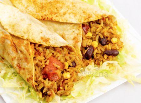 Burritos vegetariani, senza carne, ricetta facile