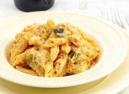 Pasta cremosa con ratatouille di verdure, ricetta facile