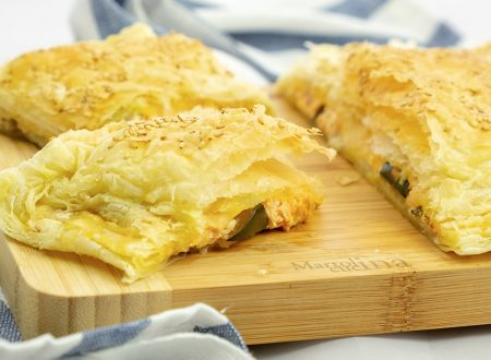 Torta salata con verdure e formaggio cremoso
