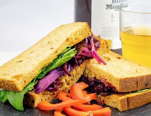 Sandwich con falafel, ricetta facile, panini golosi