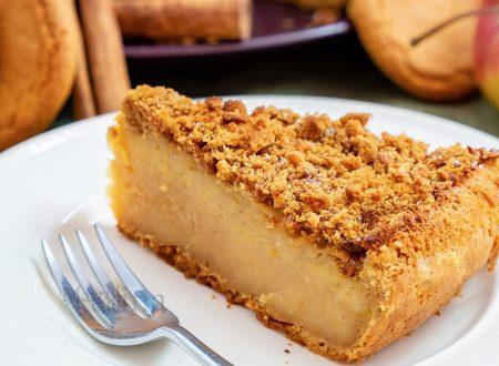 Torta di mele, ricotta e biscotti, ricetta facile e veloce