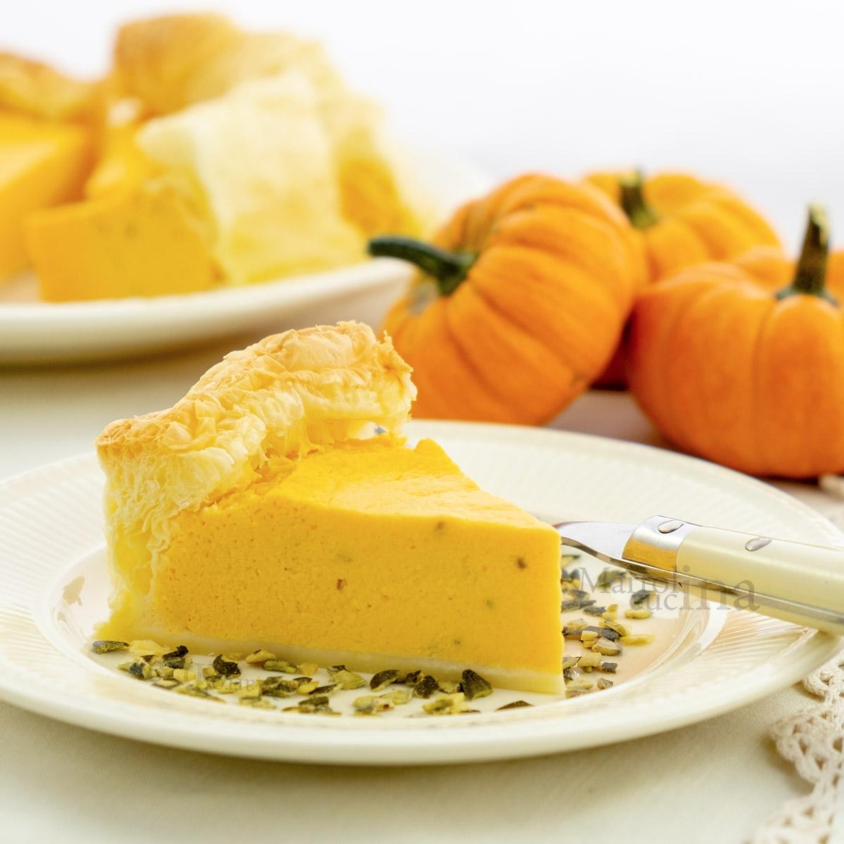 Torta salata con zucca e ricotta