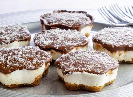 Cheesecake velocissima cocco e nutella, senza panna e colla di pesce
