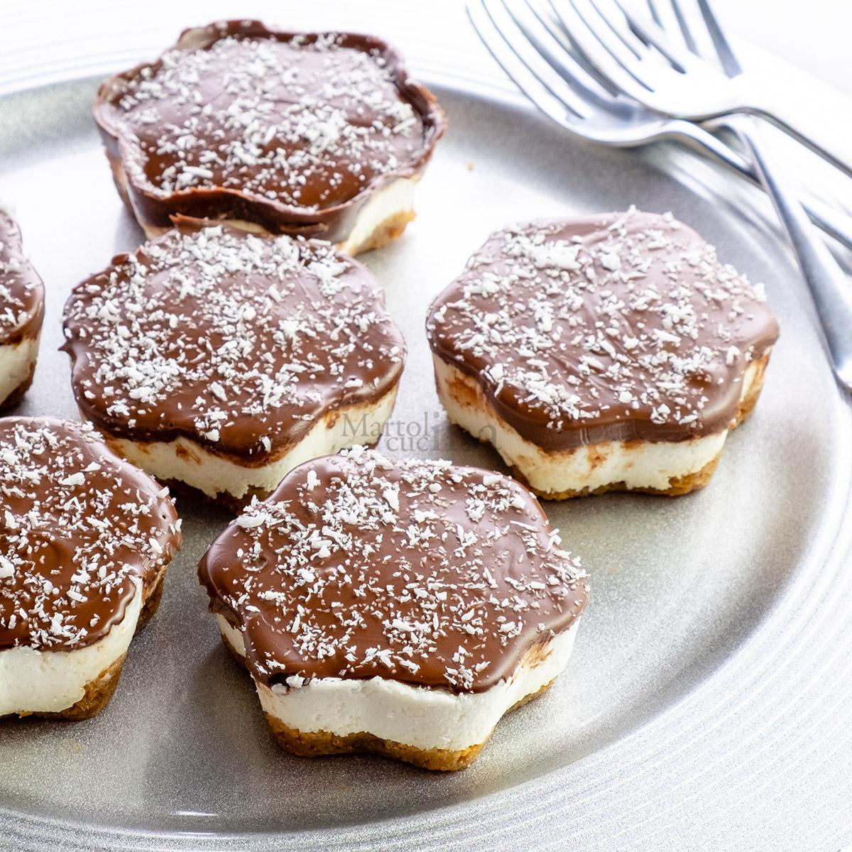 Cheesecake velocissima cocco e nutella