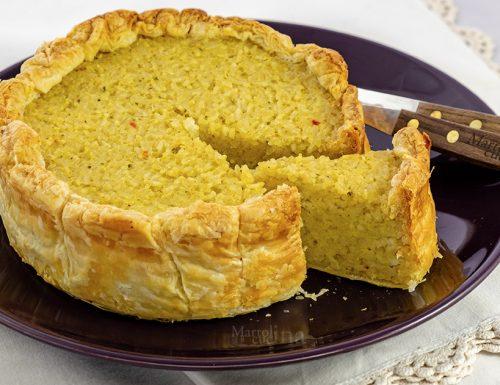 Torta di riso in crosta, ricetta facile e veloce