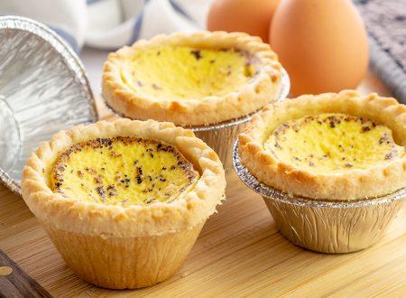 Egg tart, dolcetti con crema di uova facilissimi