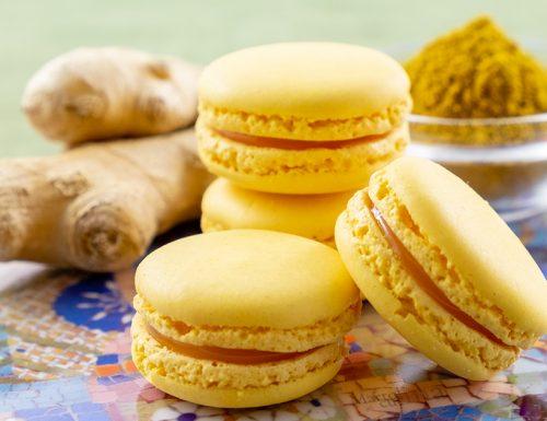 Macaron salati al curry e zenzero, antipasto sfizioso, ricetta infallibile