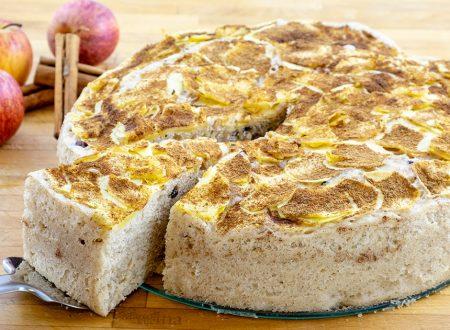 Torta di mele e yogurt di soia, senza burro sofficissima altissima