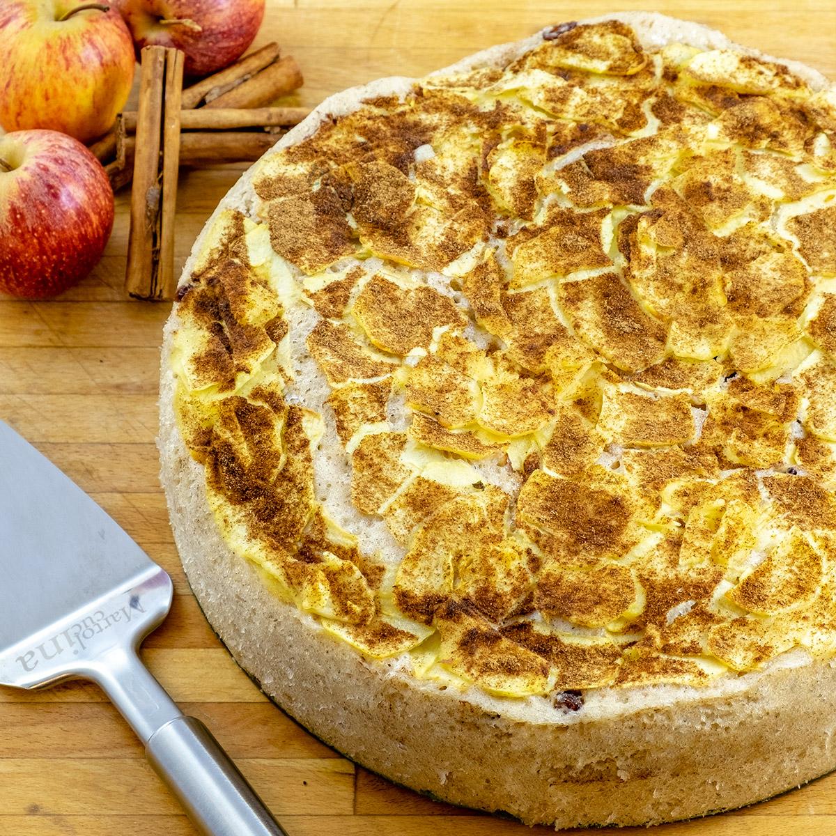 Torta di mele e yogurt di soia