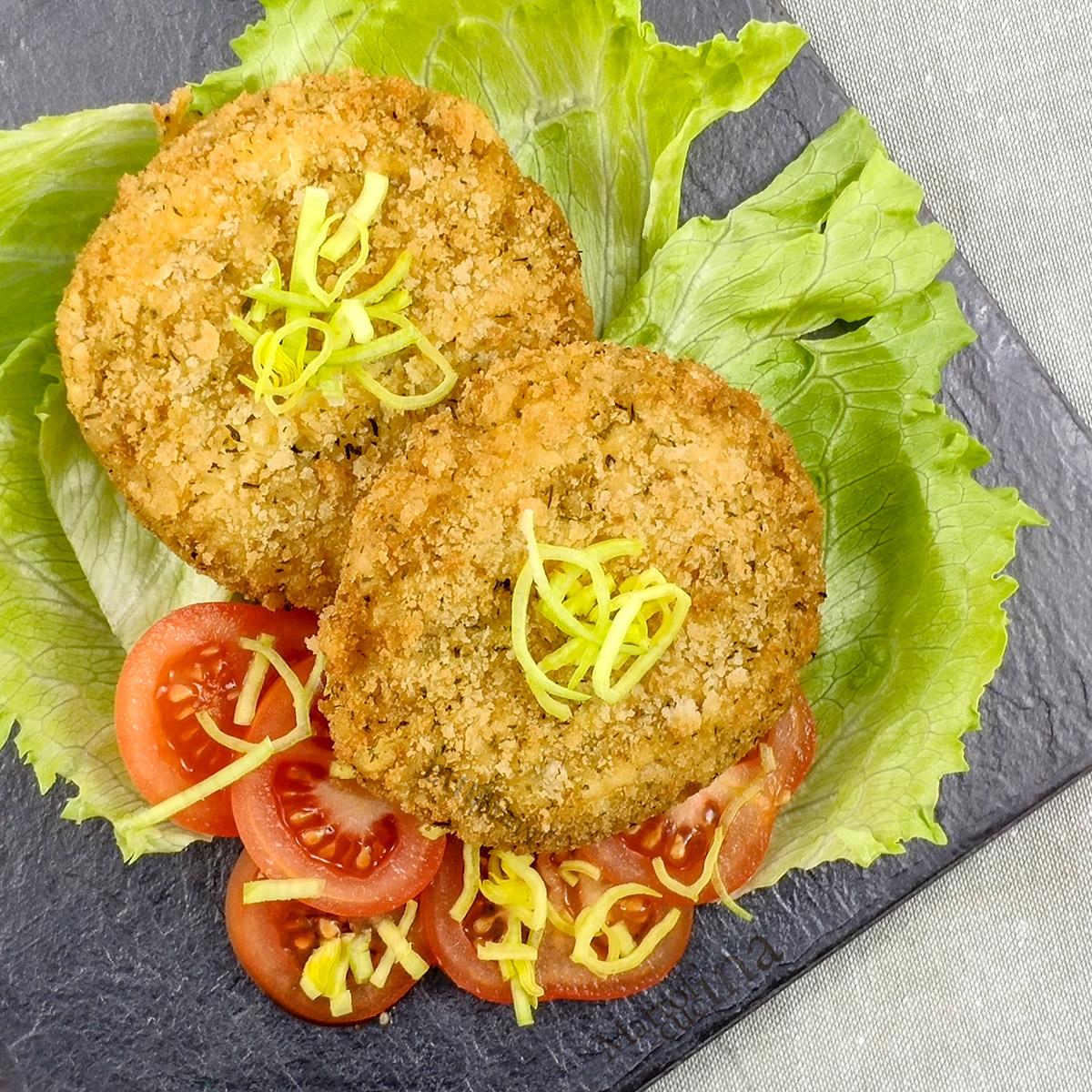 Burger di merluzzo e formaggio