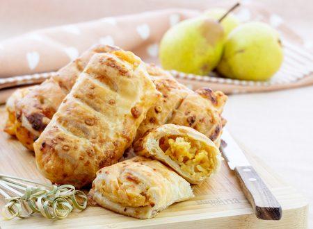 Sfogliatine salate con pere e formaggio, ricetta facile