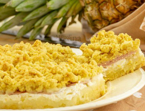 Sbriciolata salata con prosciutto e ananas, sfiziosa e imperdibile!