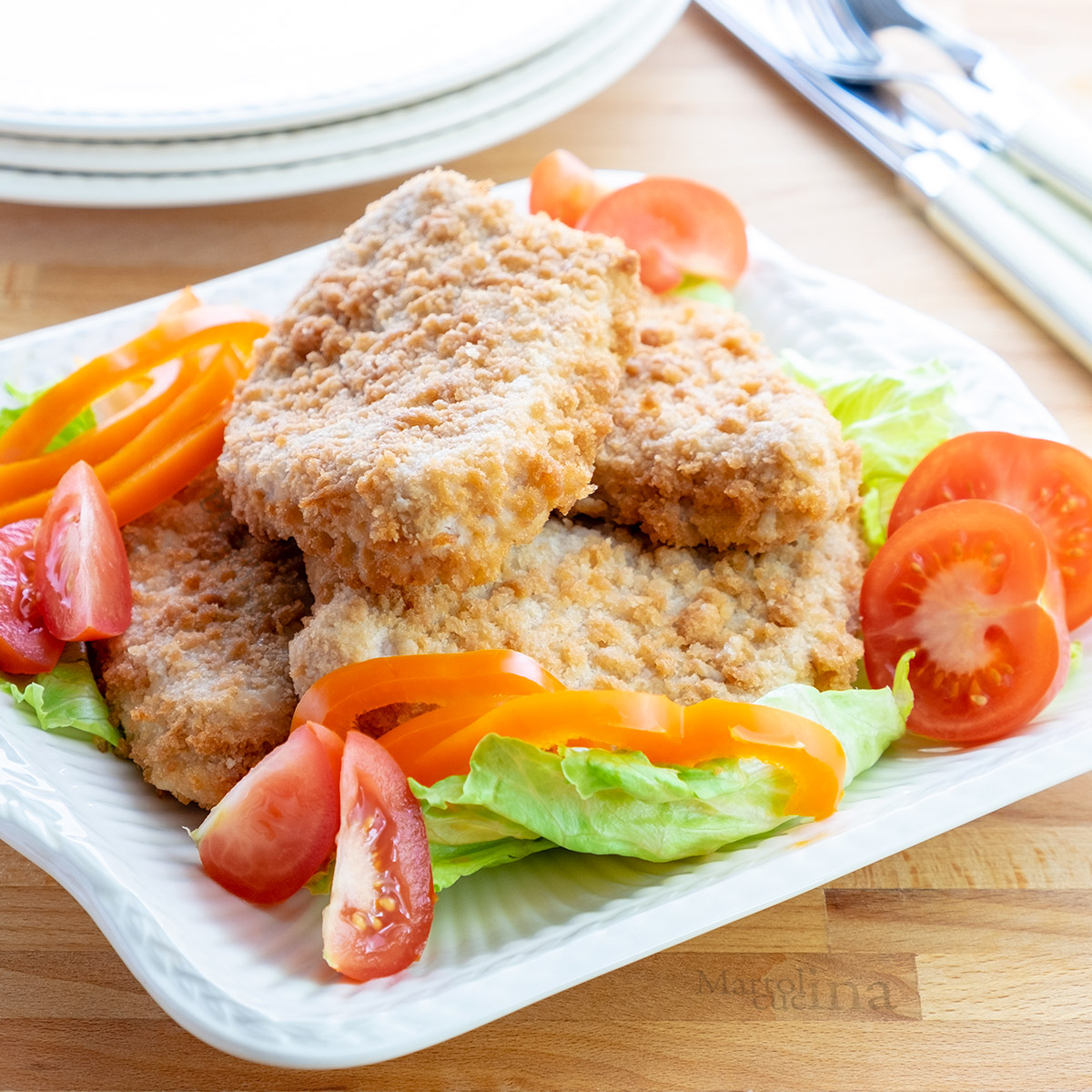 Cotolette di pollo in padella e al forno