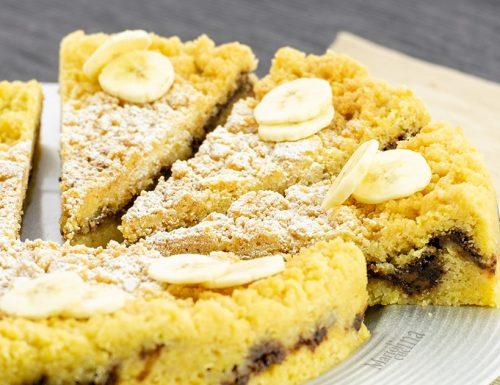 Sbriciolata nutella e banane, dolce facilissimo e golosissimo