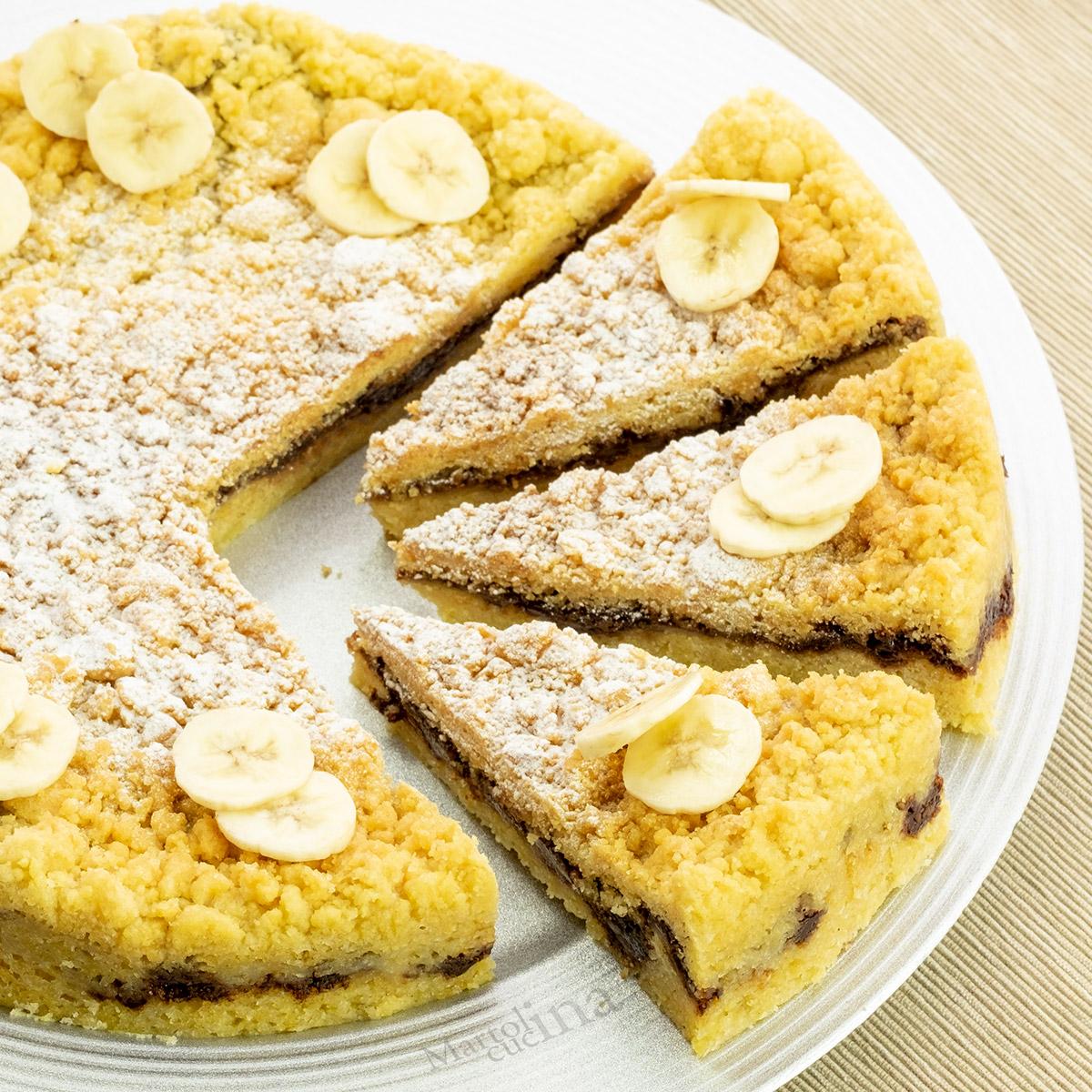 Sbriciolata nutella e banane