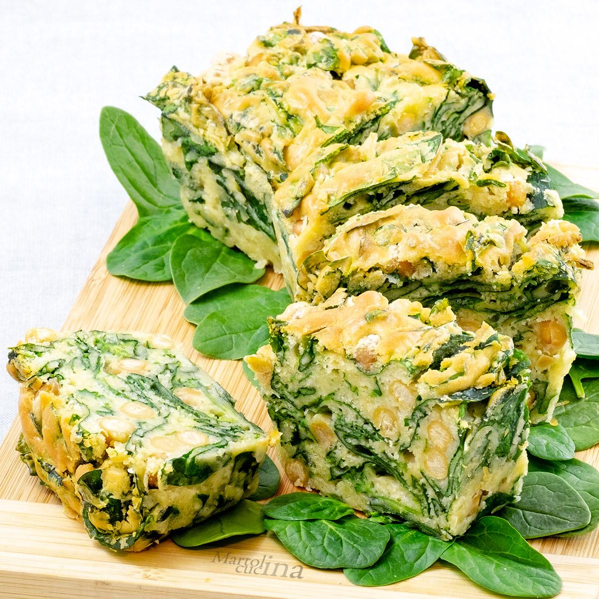 Plumcake-salato-spinaci-freschi-ceci