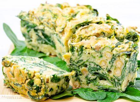 Plumcake salato con spinaci freschi e ceci, ricetta facilissima