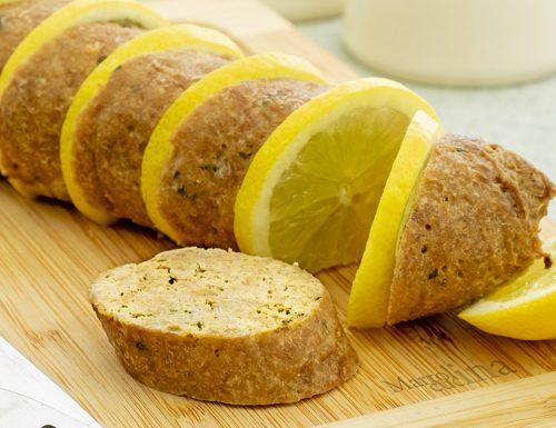 Polpettone al limone, forno tradizionale e microonde