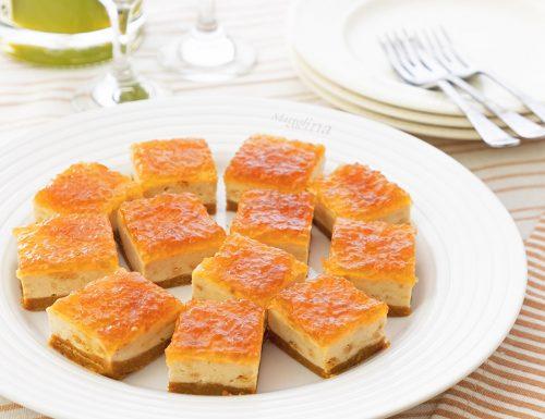 Cheesecake con ricotta e marmellata, senza cottura e colla di pesce