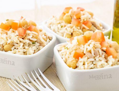 Insalata di riso con tonno e ceci, facile e veloce!
