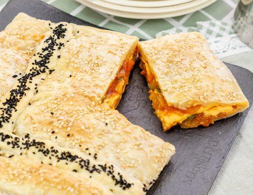 Torta salata con verdure e formaggio, ricetta facilissima
