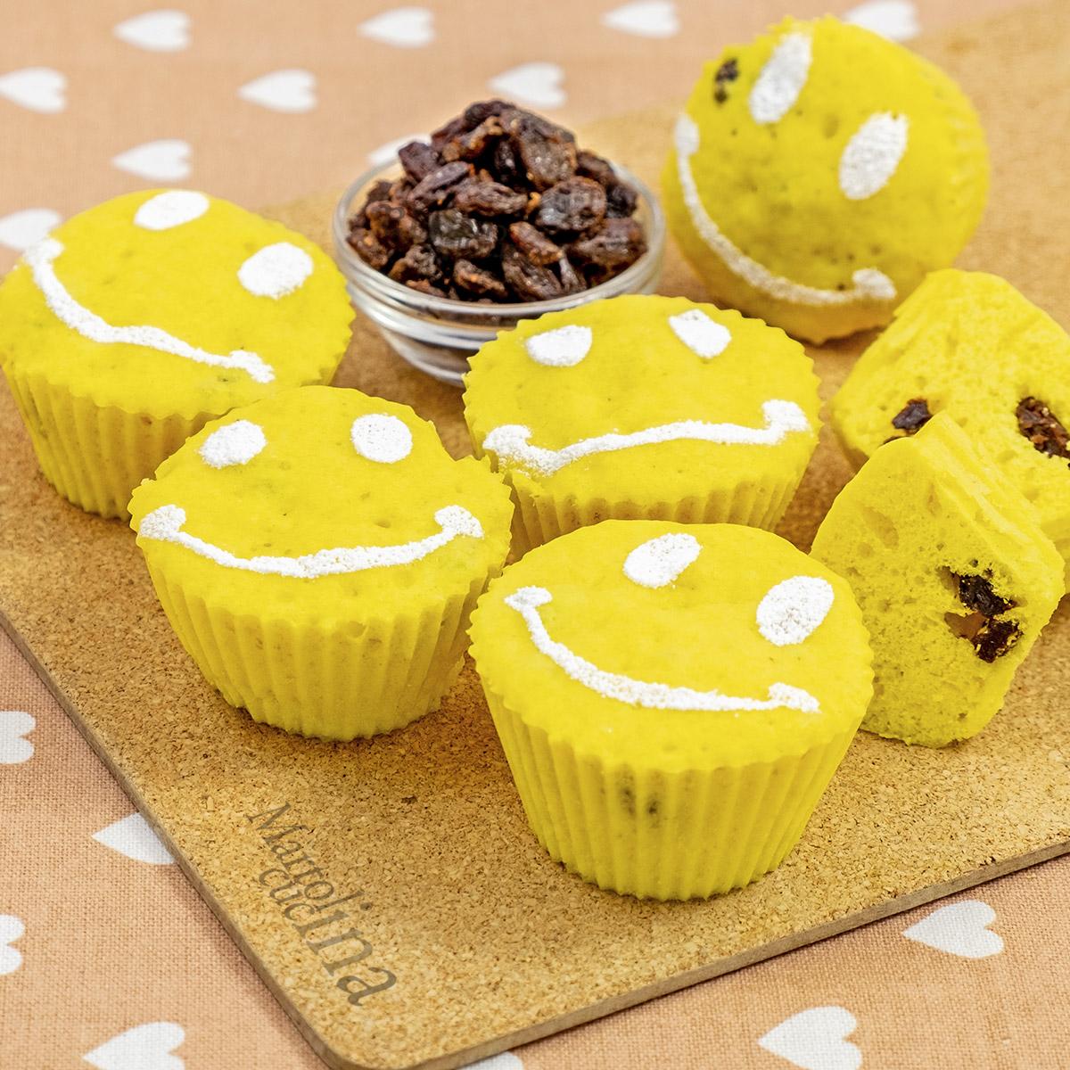 Muffin con uvetta in microonde