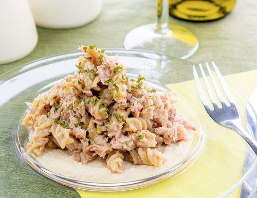 Pasta con tonno e crema di fagioli, primo facilissimo e saporito