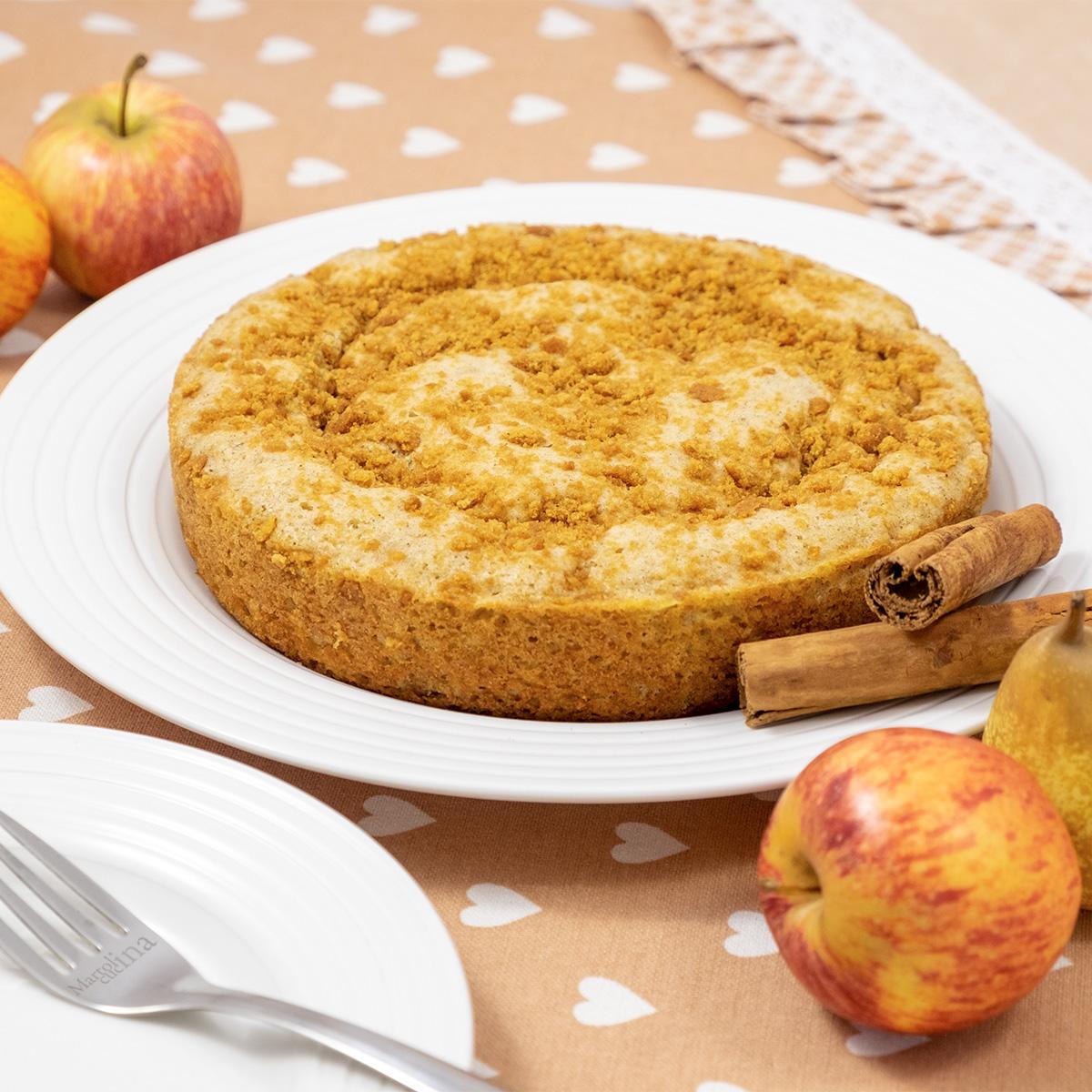 Torta di mele e pere in padella