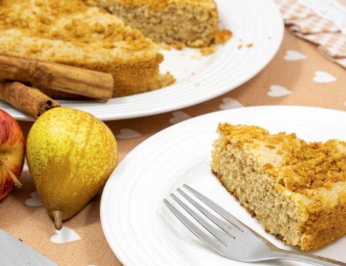 Torta di mele e pere in padella, senza forno