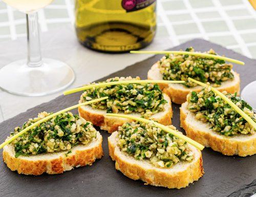 Bruschette con funghi al prezzemolo, ricetta facile