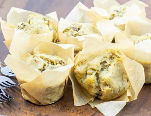 Muffin ai funghi, senza lievitazione