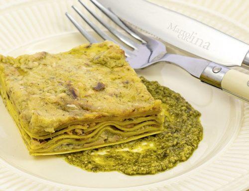 Lasagne pesto e salmone, primo piatto facile e saporito