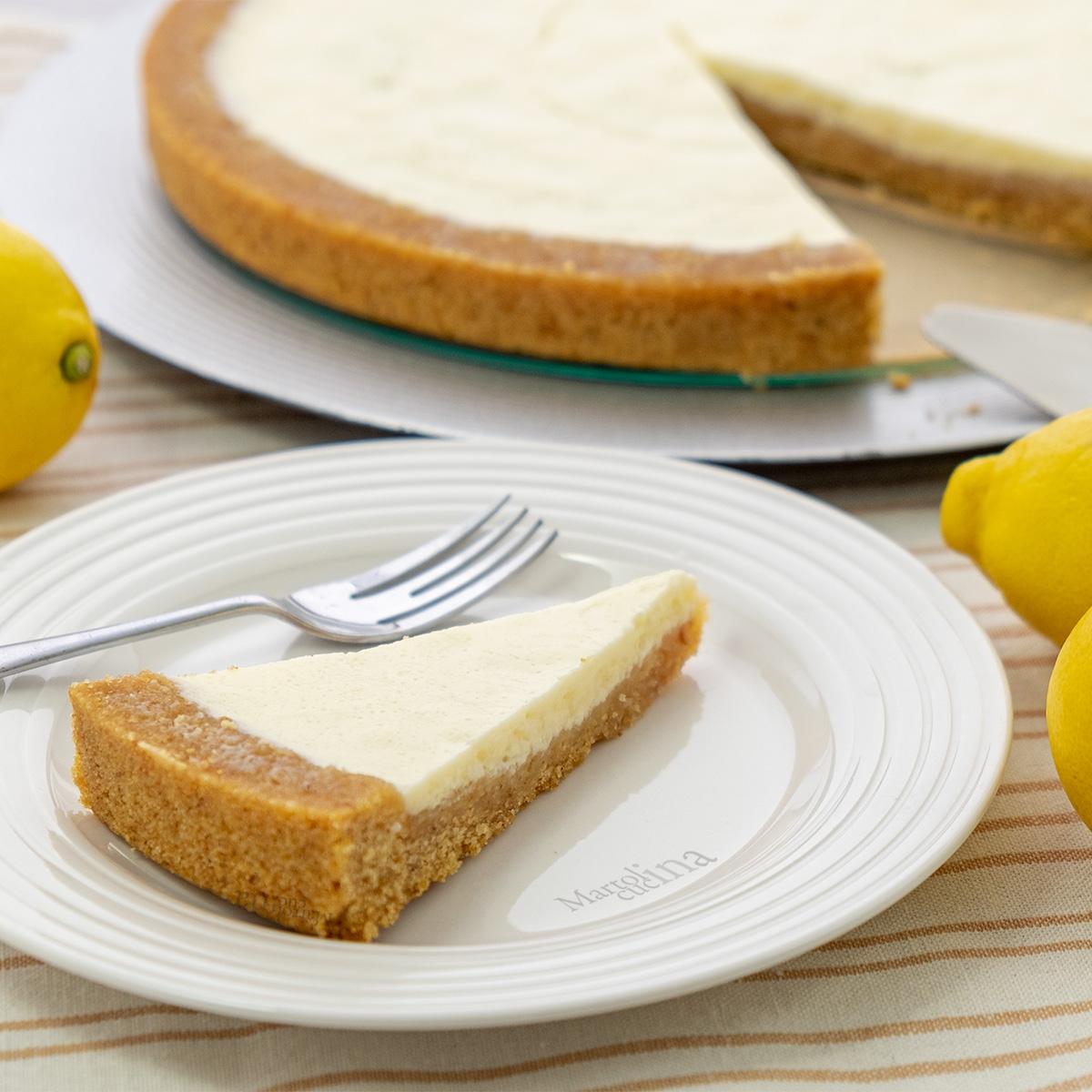 Crostata con philadelphia e limoni