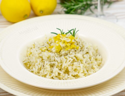 Risotto al limone e rosmarino, facile e profumatissimo!