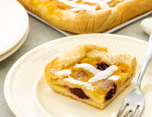 Crostata con crema e amarene, dolce facile e goloso
