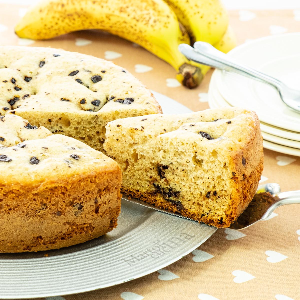 Pan di banana con cioccolato
