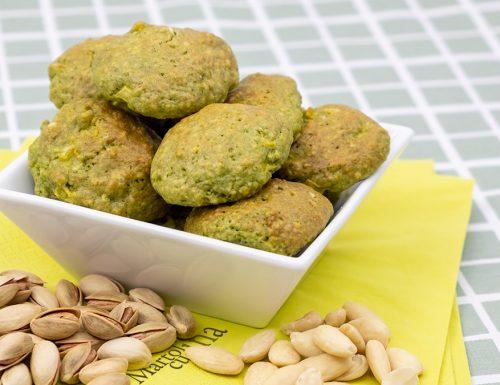 Biscotti di pistacchi e mandorle, senza farina, facilissimi