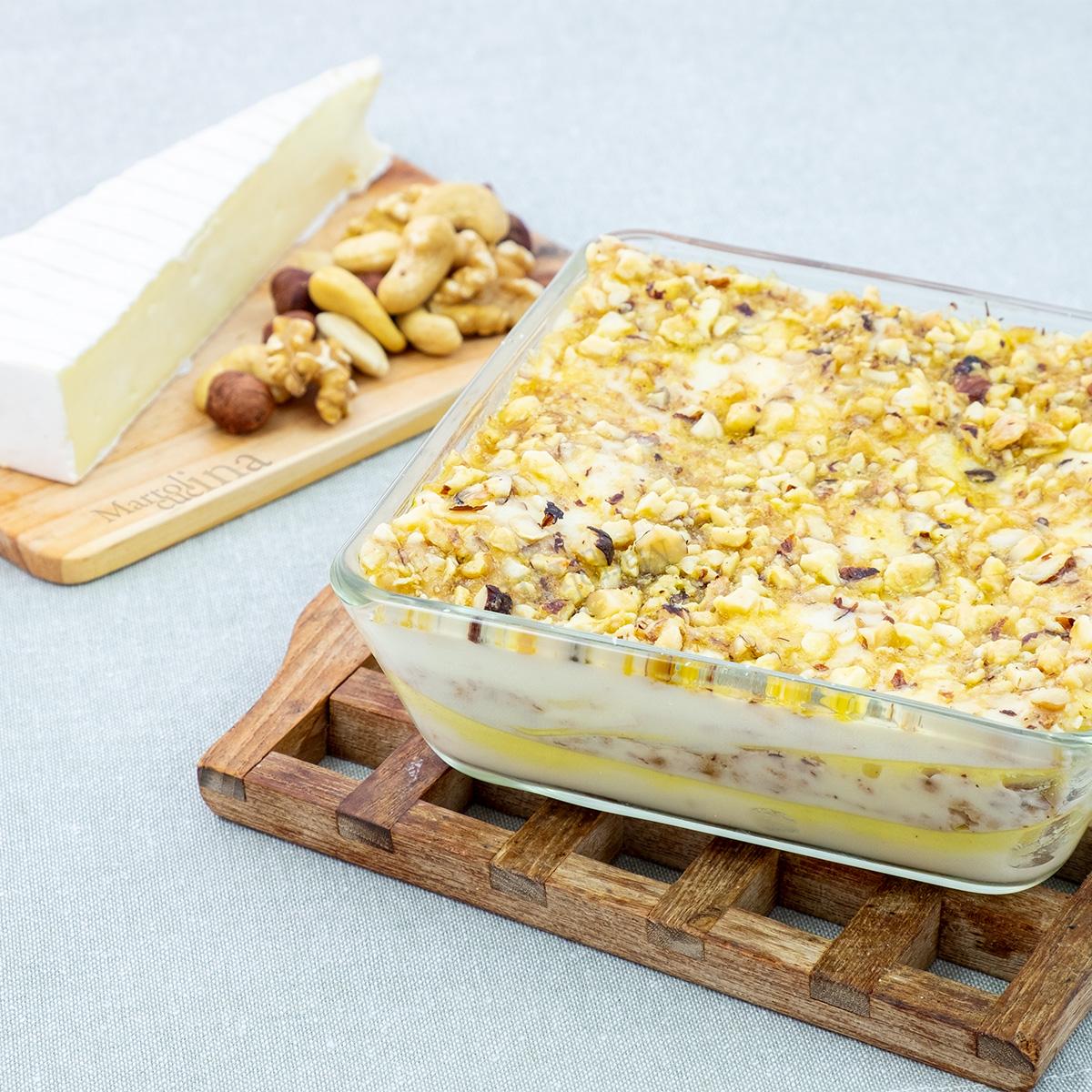 Lasagne brie frutta secca