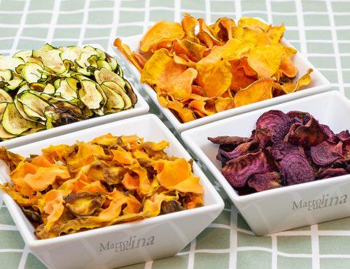 Chips di verdure, ricetta per forno tradizionale e a microonde