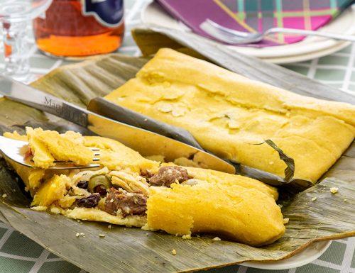 Hallaca, fagottino di mais ripieno, ricetta venezuelana