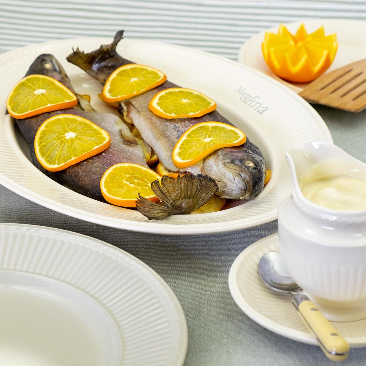 Pesce all'arancia al forno
