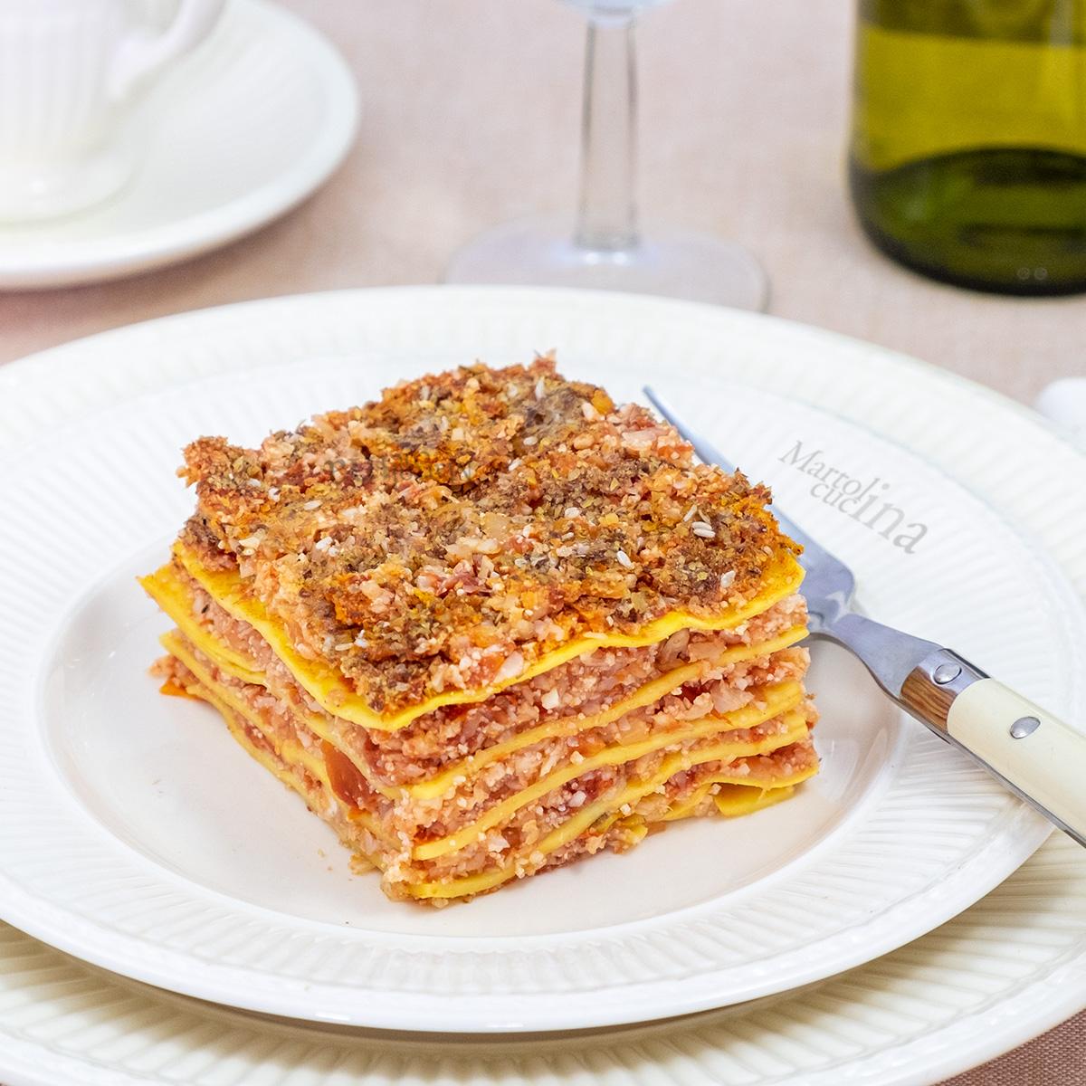 Lasagne al ragù di cavolfiore